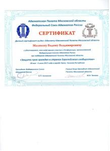 сертификат ЕСПЧ